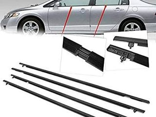 Car Outside Door Glass Window Weatherstrip Trim Seal Belt For Honda Civic 2006 2011