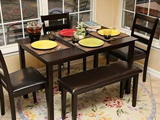 Home life 150232 life Home 3pc Dining Chairs  Espresso Brown   THE 3 CHAIRS ONlY  TABlE AND BENCH NOT INClUDED