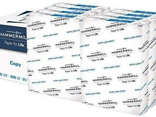 Hammermill 20lb Copy Paper  8 5 x 11  8 Ream Case  4 000 Sheets  Made in USA  Sustainably Sourced From American Family Tree Farms  92 Bright  Acid Free  Economical Multipurpose Printer Paper  113640C