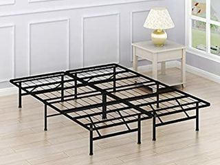 Simple Houseware 14 inch Queen Size Mattress Foundation Platform Bed Frame Queen