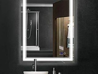 Keonjinn 36 x 28 Inch Bathroom lED Vanity Mirror Anti Fog Wall Mounted Makeup Mirror with light  Horizontal Vertiacl