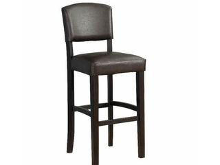 linon Monaco Bar Stool  30 inch Seat Height  Multiple Colors