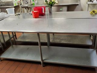 8ft Stainless Prep Table