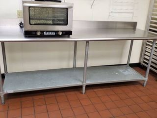 8ft Stainless Prep Table With Back Splash