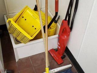 Mop Bucket  Mop  Squeege  Vacuum
