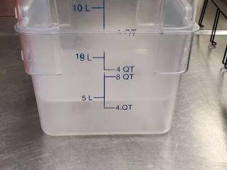 2  12QT Plastic Bins