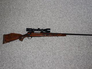 #631 Weatherby Model Mark V Lazermark w/ Scope 3X9 300 WIN MAG
