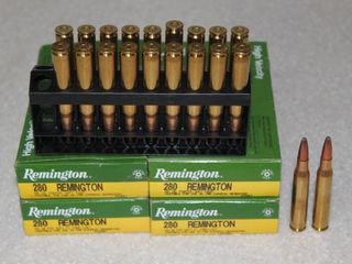 #654 (4) Boxes of Remington 280 150 Grain Soft Point Rounds
