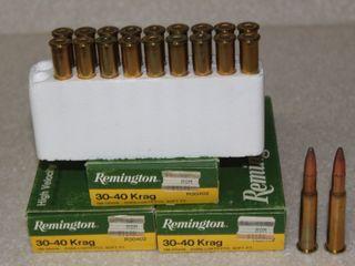 #656 (3) Boxes of Remington 30-40 Krag 180 Grain Soft Point Rounds