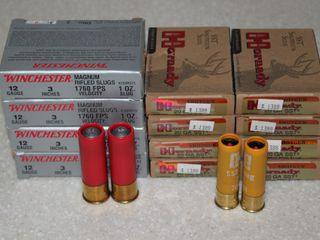 #662 (4) Boxes of Winchester Super X 12GA 3� Slugs, etc.