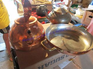 2 COPPER TEAPOTS