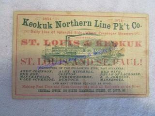 1874 TRAIN TICKET