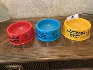 Snoopy Dog Bowls