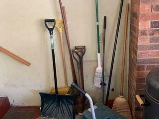 Shovels, Garden Bench & Miscellaneous