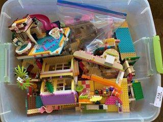 Tote of Legos & Miscellaneous
