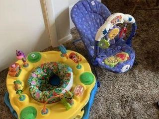 Exersaucer & Kick & Play Chair