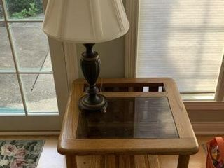 Matching Pair of Lamp Tables & Lamps