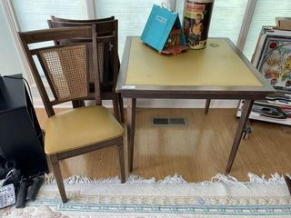 Vintage Card Table & Chairs