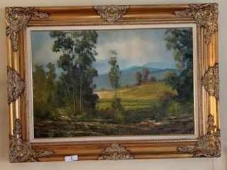 Framed Oil on Canvas Painting