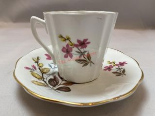 CUP AND SAUCER BONE CHINA BY ROYAL DOVER CHINA