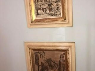 Pair of Framed Paintings on Silk