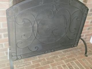 Wrought Iron Framed Fire Place Screen