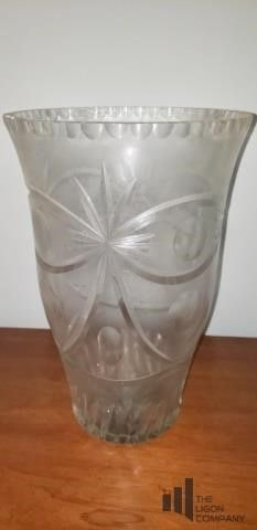 Large Heavy Crystal Vase