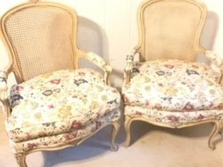 Modern French Style Cane Back Chairs
