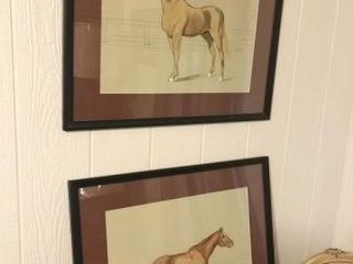 Pair of Framed Horse Drawings