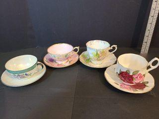 4 Tea Cups & Saucers