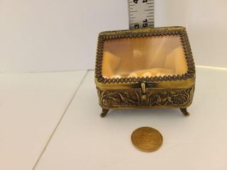 Vintage Hunting Scene Jewelry Box