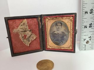 Antique Picture in Leather Bound Case