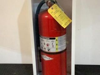 Amerex Fire Extinguisher with Cabinet
