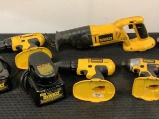 (9) Dewalt Drills, Chargers, Battery