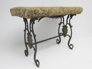 Ornate Antique Victorian Cast Iron Bench