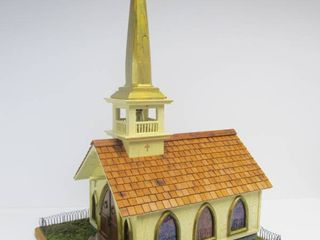 Wonderful Unused HUGE Hand Made Church Birdhouse