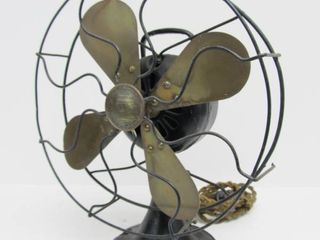 Antique GAVIN Brass Blade Desk Fan