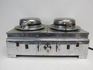 Scarce Working GRISWOLD Chrome Hotel Double Electric Waffle Maker