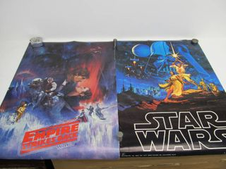 Pair of Vintage STAR WARS Posters 1977 & 1980