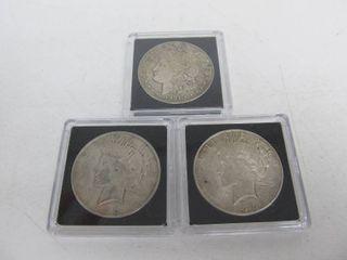 1921 - 1922 - 1923 Silver Dollars