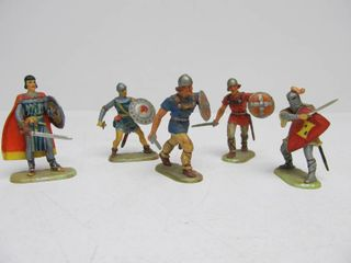 Group of Vintage ELASTOLIN Toy Soldiers