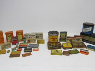 Large Lot of Vintage & Antique Tobacco & Spice Tins etc