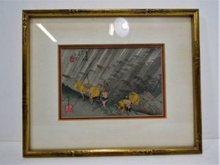 """SHIRO AME"" Original Japanese Woodblock Print Signed"