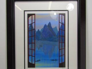 Fanch (Francois Ledan) China Mountains Serigraph Limited Edition Signed