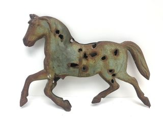 Antique Copper/Tin Horse Weathervane