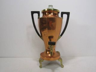 "Art Deco ""UNIVERSAL"" Trophy Style Copper Electric Frary & Clark Percolator"