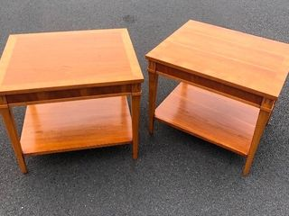 Nice Matching Pair of Mid Century LANE Side Tables