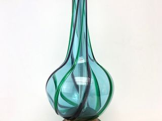 Gorgeous Mid Century 1960's Seguso Sommerso Murano Art Glass Table Lamp