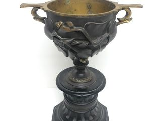 Exceptional Antique 19th Century Bronze Chalice/Vase