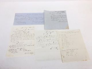 Group of Original Civil War Hand Written Documents, Orders & Reports From Fort Snelling & Fort Ridgely